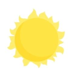 Sun icon in cartoon style vector