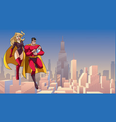 super dad mom and bain city vector image