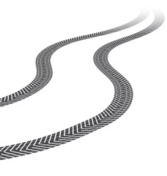 Tire tracks white background vector