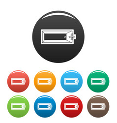 top view bathtube icons set color vector image