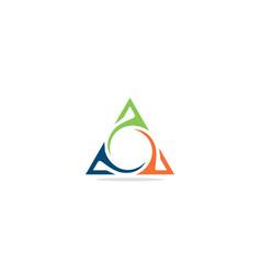 triangle abstract colorful circle company logo vector image