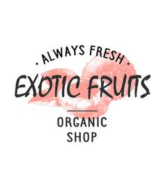 vintage style shop label badge emblem logo vector image