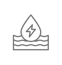 Water energy ecology line icon isolated on white vector