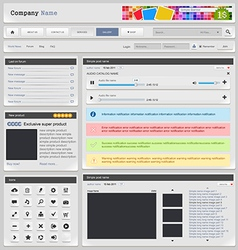 Web design silver part 2 vector
