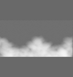 white fog or smoke on transparent background vector image