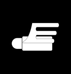 White icon on black background flying cruise vector