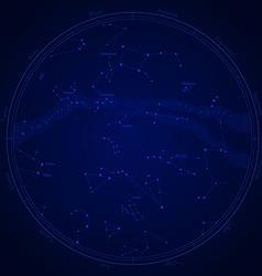 Zodiac star map vector
