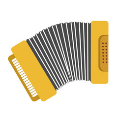 bright yellow harmonic with keys and buttons vector image vector image