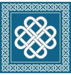 Celtic love knotirish symbol of good fortune vector image vector image