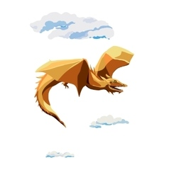 Cratoon flying dragon vector image