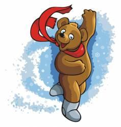 dancing bear vector image vector image