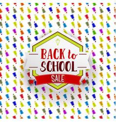 Retro back to school sale banner vector