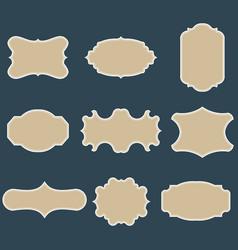 set of blank vintage frames vector image
