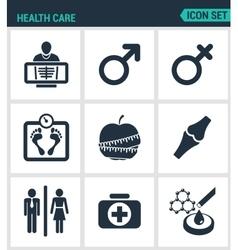 Set of modern icons Health Care rengen vector image