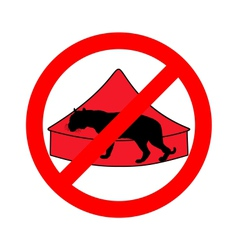 Tiger in circus prohibited vector image