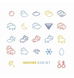 colorful outline weather icon vector image vector image