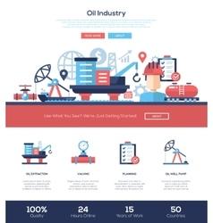 Oil and gas industry website header banner with vector image vector image