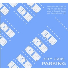 parking lot with vector image