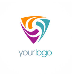 triangle loop colored logo vector image