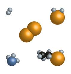 acetic acid vinegar molecules vector image