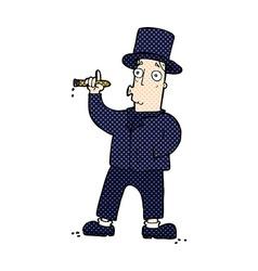 comic cartoon smoking gentleman vector image vector image