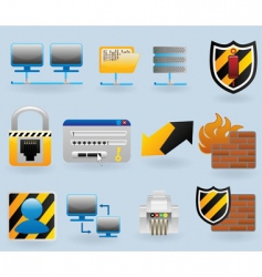 computer and network vector image vector image
