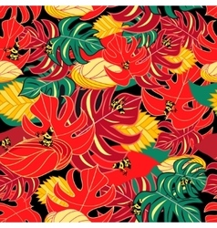 Exotic pattern and jungle frogs vector image vector image