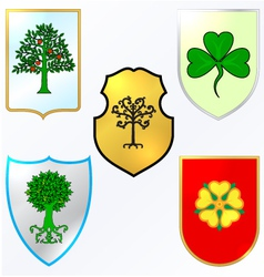 Heraldic elements - Trees and vector image vector image