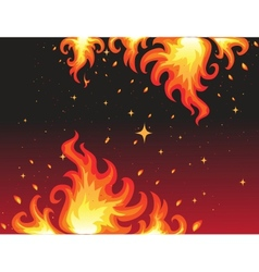 Hot Fire background bunner vector image