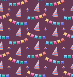 Seamless Holiday Pattern with Colorful Buntings vector image vector image
