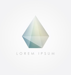 3d low polygon diamond vector image