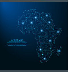 africa map low poly vector image