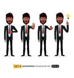african business man showing stop gesture vector image