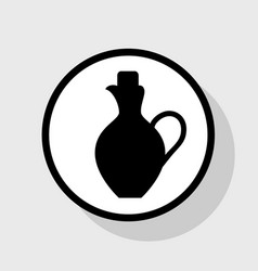 amphora sign flat black icon vector image