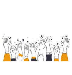 Applauding hands congratulation audience ovation vector
