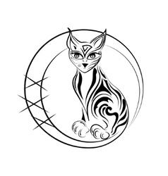 Artistic cat vector