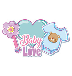 Baby love card vector