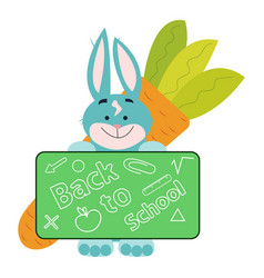 Back-to-school-with-rabbit vector