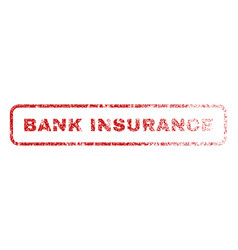 Bank insurance rubber stamp vector