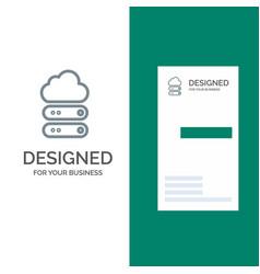 Big cloud data storage grey logo design and vector