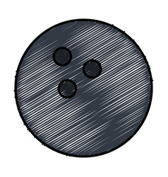 Bowling ball isolated icon vector