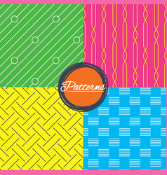 braid weave diagonal lines seamless textures vector image