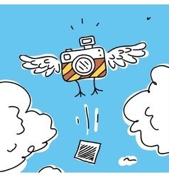 camera cartoon symbol vector image