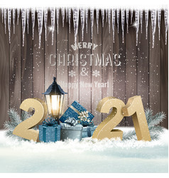 christmas and new year holiday background vector image