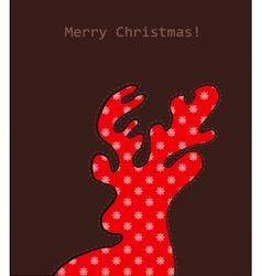 Christmas deer with pattern vector image