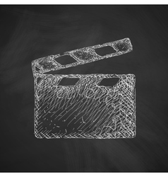Clapper cinema icon vector
