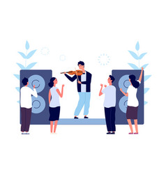 classical music concert musician violinist vector image