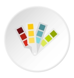 Color palette icon flat style vector