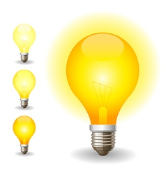 Colored light bulbs icons vector image