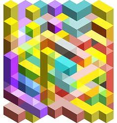 Colorful 3D cubes vector image vector image